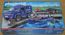 Playmobil 9396 Bundespolizei - Truck mit Schnellboot + Unterwassermotor, Neu OVP