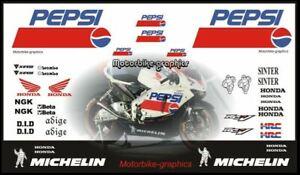 Honda Pepsi Moto GP 2008 decal set