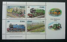 Ireland Railway 1984 Train Locomotive Transport Vehicle (miniature sheet) MNH
