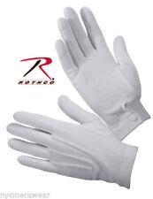 Parade Gloves or Tuxedo Gloves White Rothco #4410 XS-XL 100% Cotton Snap Wrist