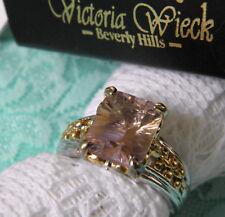 VICTORIA WIECK  AMETRINE 2-Tone Sterling Silver Ring Size 9