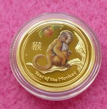2016-p Australia Serie Ii Año Lunar De Monkey $15 1/10 Th oro moneda de prueba Co