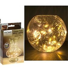 Jms® 20 Mini LED Warm White Bulbs On Copper Wiring - Wiringhomechristmas