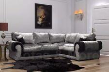 Crushed Velvet L shaped Right Hand Corner/Sectional Sofas
