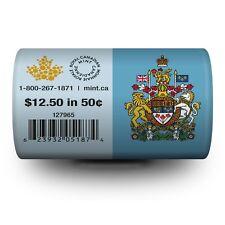 2014 Canada 50 Cents - BU ROLL 25 Coins Special Wrap - E332