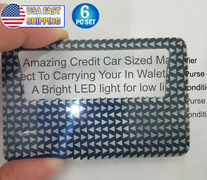 Credit Card Sized Illuminated 3x Reading Magnifier Lens - Wallet Sized Reader TV