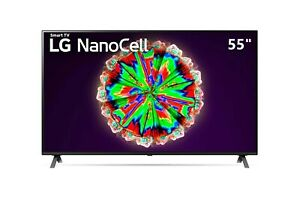 "Smart TV LG Nanocell 55 "" 4K UHD LED 55NANO803NA DVBT2/S2 Télévision Noir HDMI"
