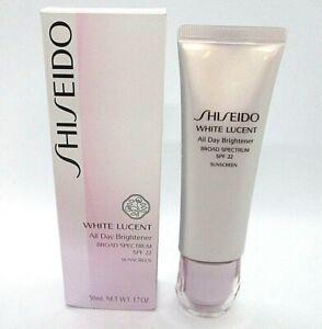 Shiseido White Lucent All Day Brightener SPF 22 ~  50 ml / 1.7 oz / BNIB