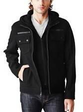 MEN'S GUESS DALEY WOOL HOODED BOMBER JACKET Sz S NWT! FREE SHIP