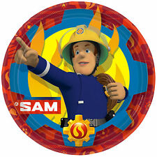 8 FIREMAN SAM Hero Children's Birthday Party Large 23cm Paper Plates