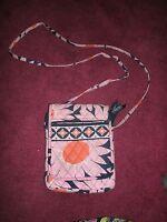 Vera Bradley Mini Hipster Loves Me Pink Blue Flower Cross Body Purse Bag