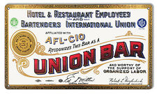 """Union Hotel And Restaurant Reproduction Bar Sign 12""""x18"""""""