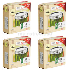 Kerr Wide Mouth Mason Canning Jar Lids - 4 Boxes (48 Lids Total) - Brand New