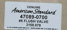 American Standard 47089-0700 Flush Valve, #5 Genuine 3158.078  Replaces 5-5, 5-7