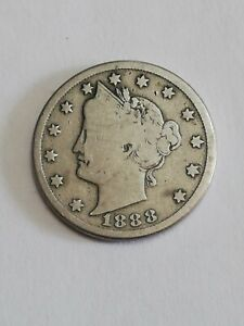 United States 1888 Nickel 5 Cents Liberty.