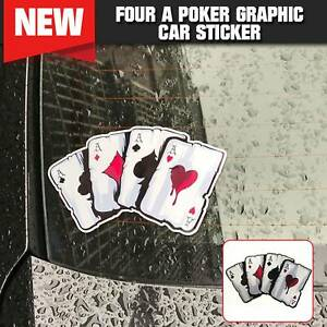Four A Poker Graphic Car Sticker Motorcycle Auto Styling Reflective Decal 2021