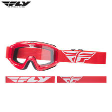 New Adult 2018 Fly Focus Goggle Red Motocross Enduro Quad ATV BMX Clear Lens