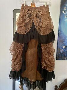 Steampunk Victorian Gothic Skirt - S-M-L