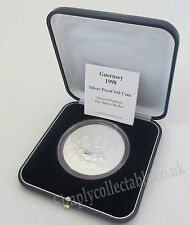 1998 5oz silver Proof Ten Pound £10 Guernsey Coin