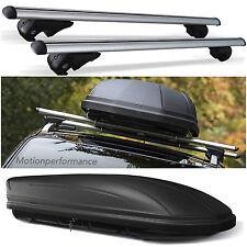 Lockable Aluminium Car Roof Rail Bars + 320L Storage Box to fit Vauxhall Mokka X