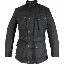 Richa Bonneville Motorbike Cycle Jacket 100% Waterproof Black Millerain Wax - M