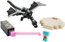 Minecraft Mini Figure Battle Box Ender Dragon Steve Bow & Diamond armor The End