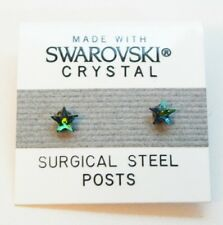 4mm Small Mystic Fire Crystal Star Stud Earrings Made with SWAROVSKI ELEMENTS