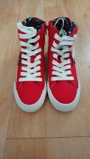 Women's Girl's Retro Hi Top Zapatillas Zapatos Botas rojo by Next Uk Size 4