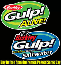 Berkley Gulp Fishing Bait Decals X2 Alive Saltwater boat dinghy tackle Box Lures
