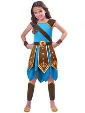 Warrior Girls Fancy Dress Viking Greek Roman Book Day Kids Childrens Costume New