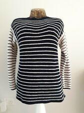 Marks & Spencer blue/cream stripe cotton jumper size M (12-14-16)