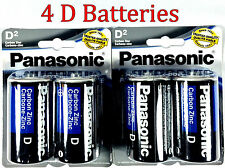 4 Wholesale D Panasonic Battery Batteries super heavy duty Bulk Lot