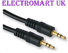 3.5MM STEREO MINI JACK TO JACK LEAD CABLE 2M GOLD CONTACTS