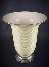 Ancienne lampe tulipe en terre cuite cannelée émaillée ART DÉCO vers 1940/1950