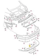 New Genuine VW PASSAT CC (09-12) Rear Bumper Lower Center Valance 3C88075219B9
