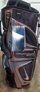 Nike Extreme Sport II Golf Carry Bag 8 Way Divider Gray Black Tan Brand New!