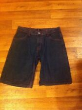 Qruel Men's 38x13 Blk/Pink Stitch Cotton 4 Pkt Relaxed Jean Shorts (tag 38)