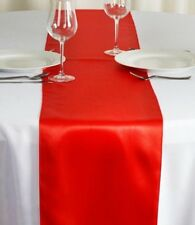 "Red Satin Table Runner Party Wedding Birthday Decor 108"""