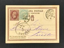 Italien Ganzsache + Zusatzfrankatur 1876 Milano Mailand n. Triest