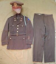 WWII U.S. Army Officer's Uniform and Cap, 29th Infantry Division, Identified