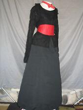 Civil War Dress Edwardian Costume Victorian Style Black w Red Theatrical Wear