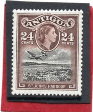 Antigua QE2 1953-62 24c black&chocolate sg 129 LH.Mint