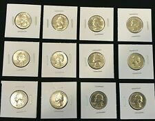 1964-D Silver WASHINGTON QUARTERS EF to About Uncirculated Free Shipping