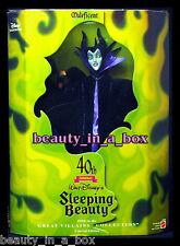 "MALEFICENT Great Villains Doll Disney Original 40th Anniversary Movie Barbi "" VG"