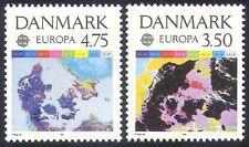 Denmark 1991 Europa/Satellite Map/Weather/Space/Temperature 2v set (n30040)