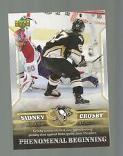 Sidney Crosby Rookie Upperdeck 2006 Phenomenal Beginings Card # 9