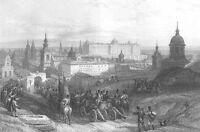 Spain, MADRID EL ESCORIAL ROYAL PALACE ~ David ROBERTS 1837 Art Print Engraving