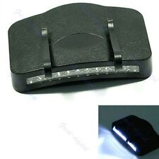 Black Camping Clip-On Cap/Hat Light 11 LED Flashlight
