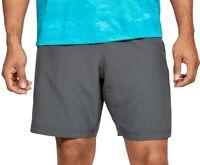 Under Armour Mens Shorts Gray Blue Size 2XL Side Logo Loose HeatGear $30 230