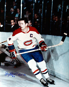 1 - 16 x 20 Glossy Photo of Jean Beliveau  HHOF player Autographed
